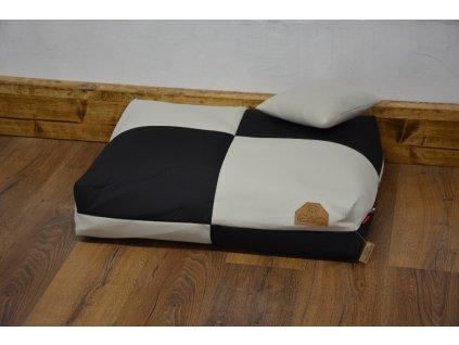 Cerino pelech Verona 140x100x15 textilní ŠACHOVNICE ČERNÁ/SVĚTLÁ