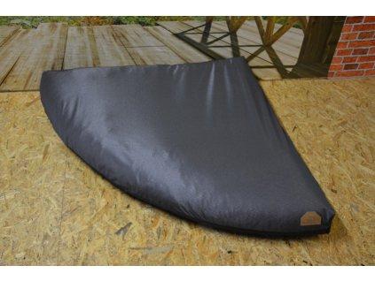 Cerino náhradní potah na pelech rohový M 120 x 120 stříbrný