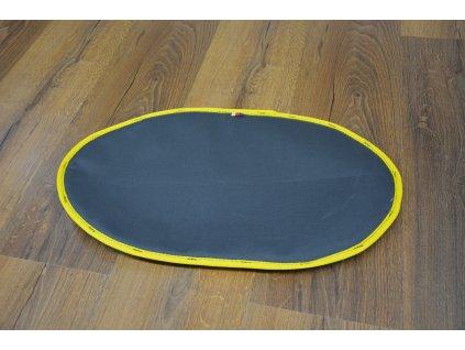 Cerino podložka pod misky oválná 53x32 cm omyvatelná a voděodolná antracit žlutý lem