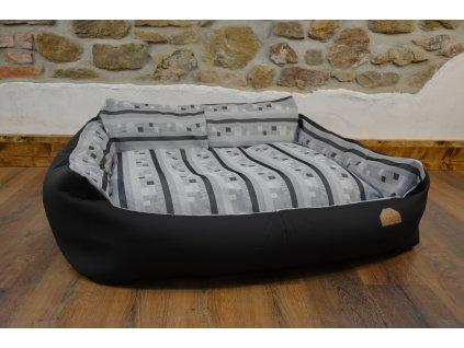 Cerino pelech Křeslo Imola M ORCA 125 x 115 x 15 béžová proužek