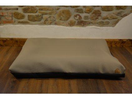 Cerino pelech Ortona 160x120x15 textilní - černá pruh