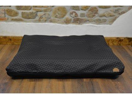 Cerino pelech Ortona 160x120x15 textilní - ČERNÉ PLASTVE