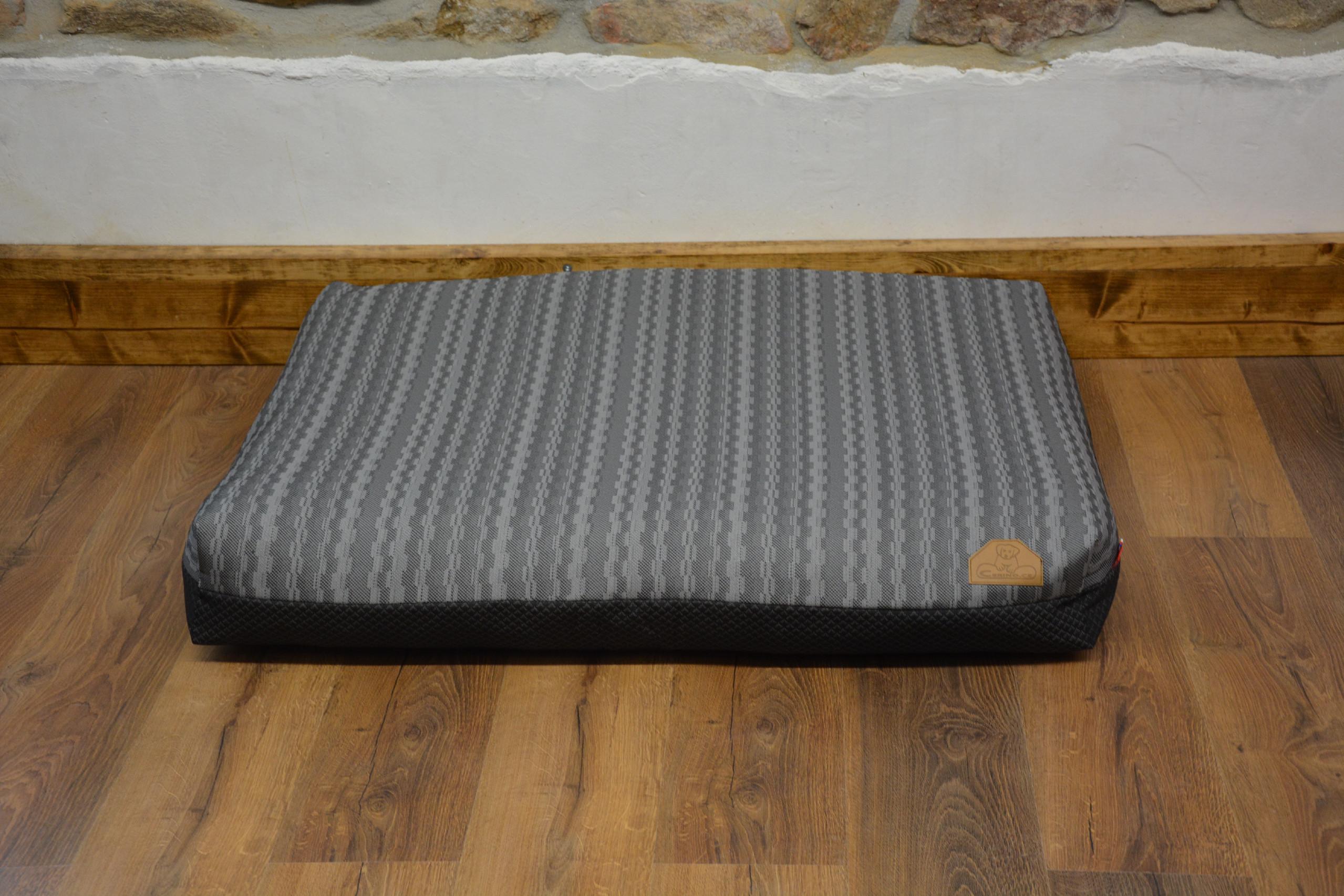 Cerino Pelech MODENA -  textilní kostka šedá 100x85x15cm