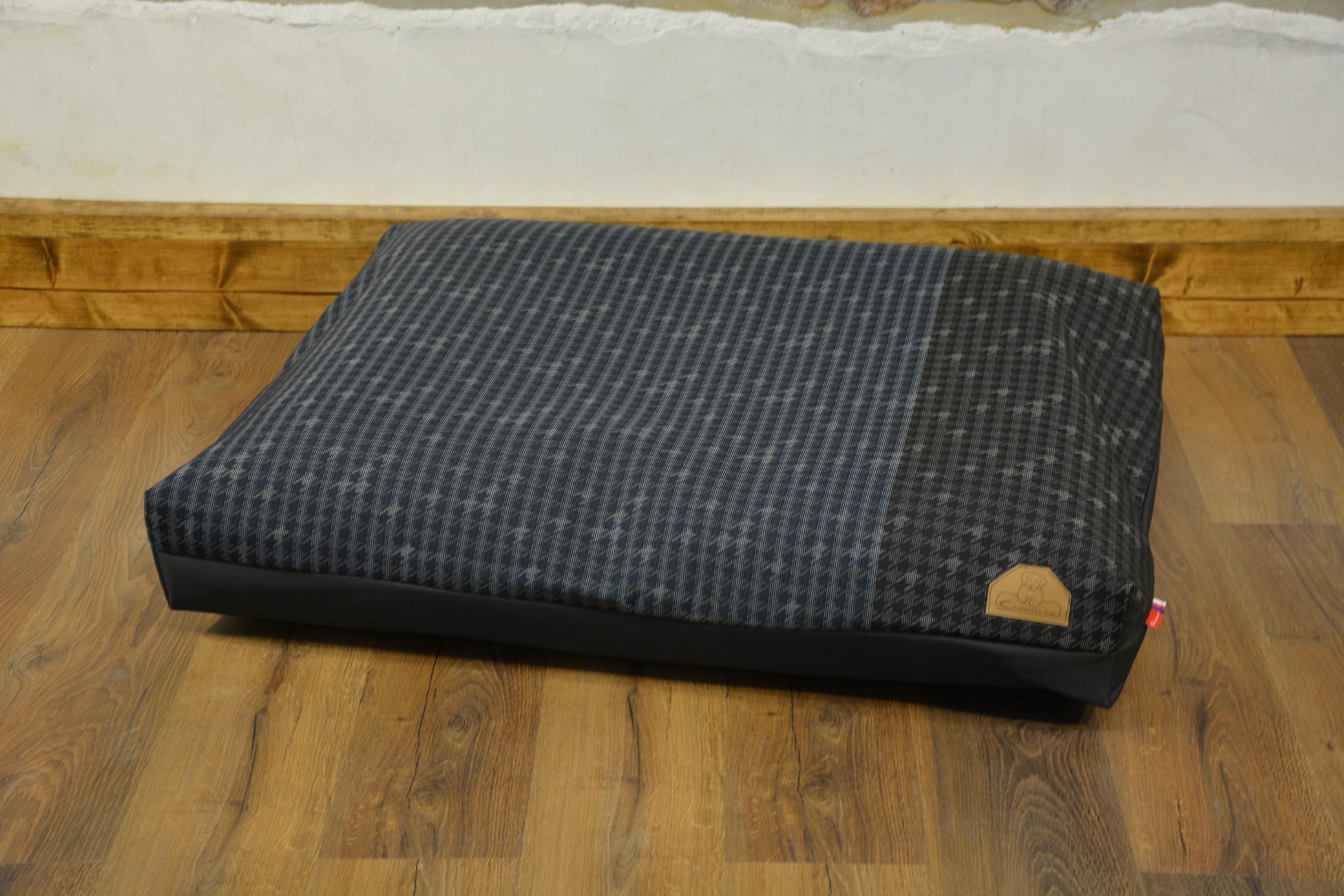 Cerino Pelech MODENA -  textilní tmavá modrý vzor 100x85x15cm