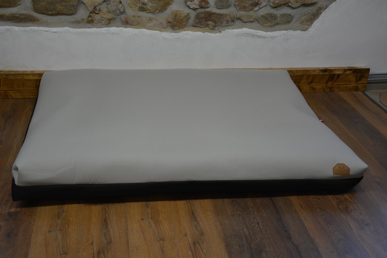Cerino pelech Ortona - textilní potah světlý 160x120x15cm