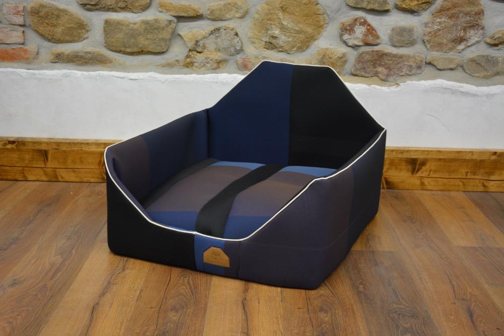 Křeslo TIMON M - odstíny modré a fialové 66x66cm