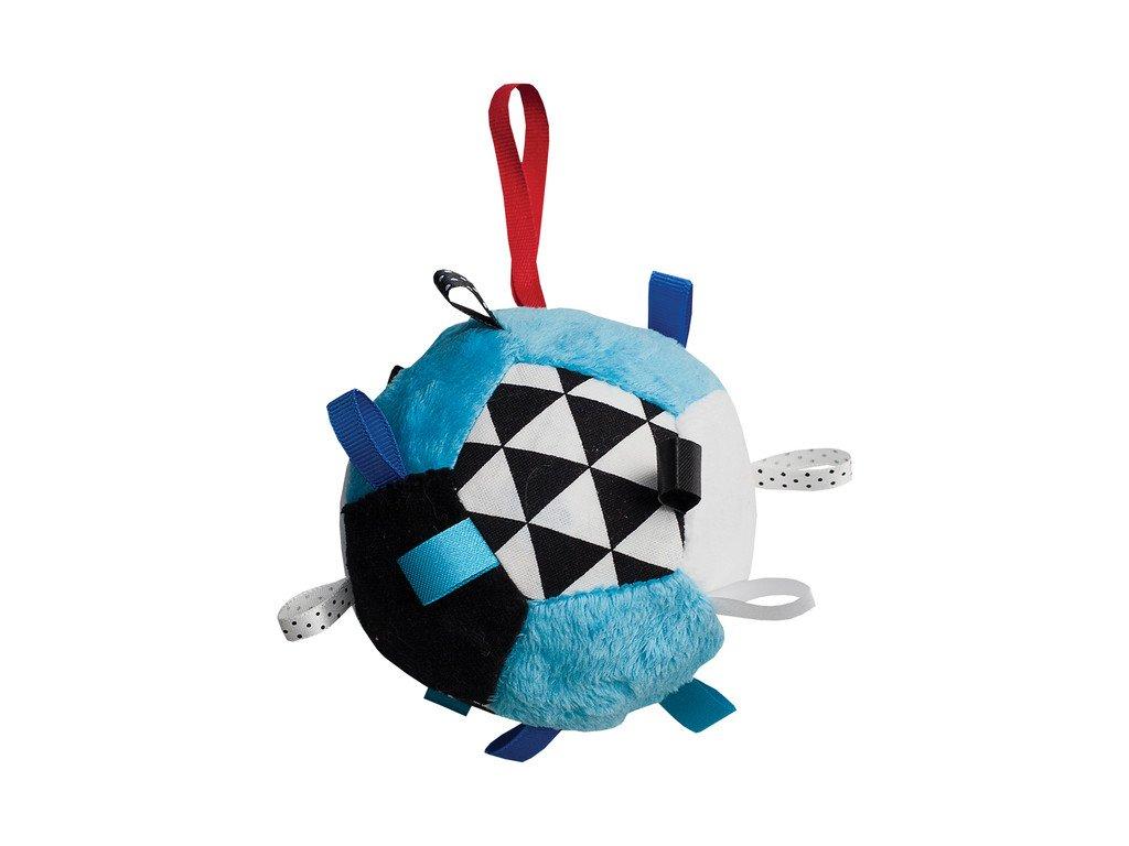 Kontrastní edukační míček - modrá, černá, bílá