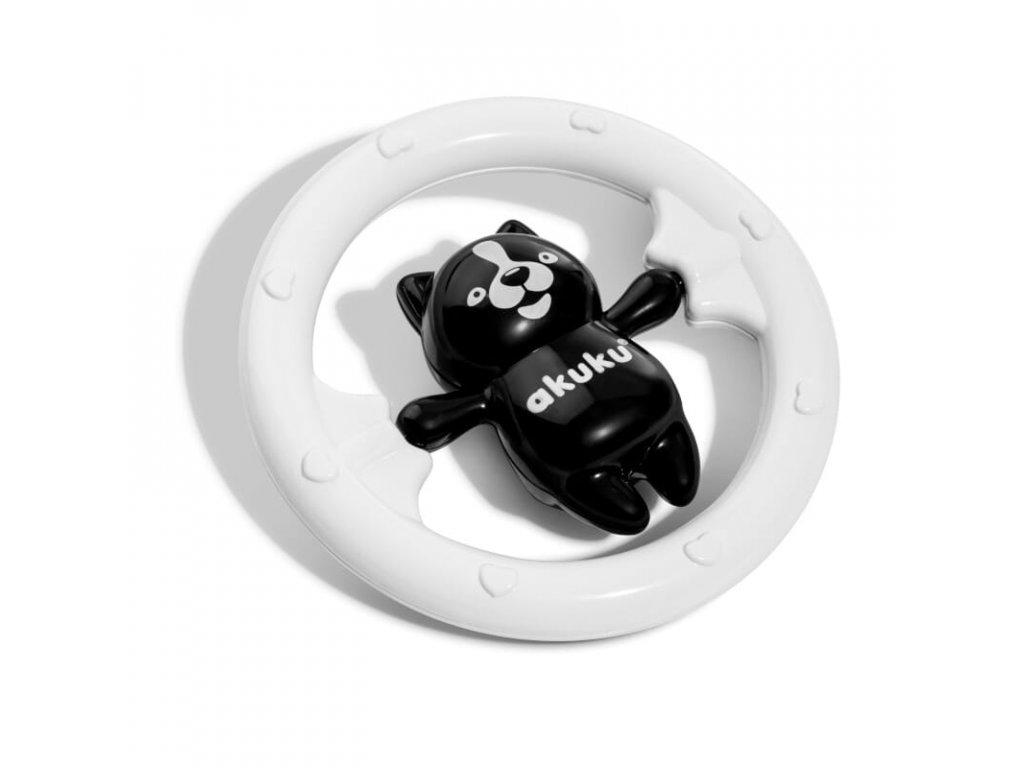 Černobílé chrastítko medvídek