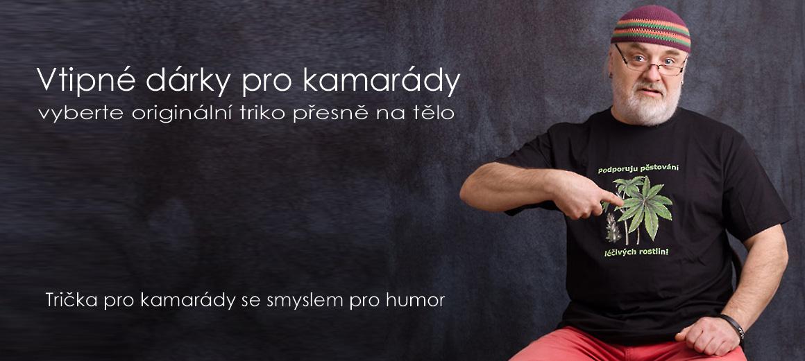 Dobrý tip na dárek pro kamaráda - Černé triko