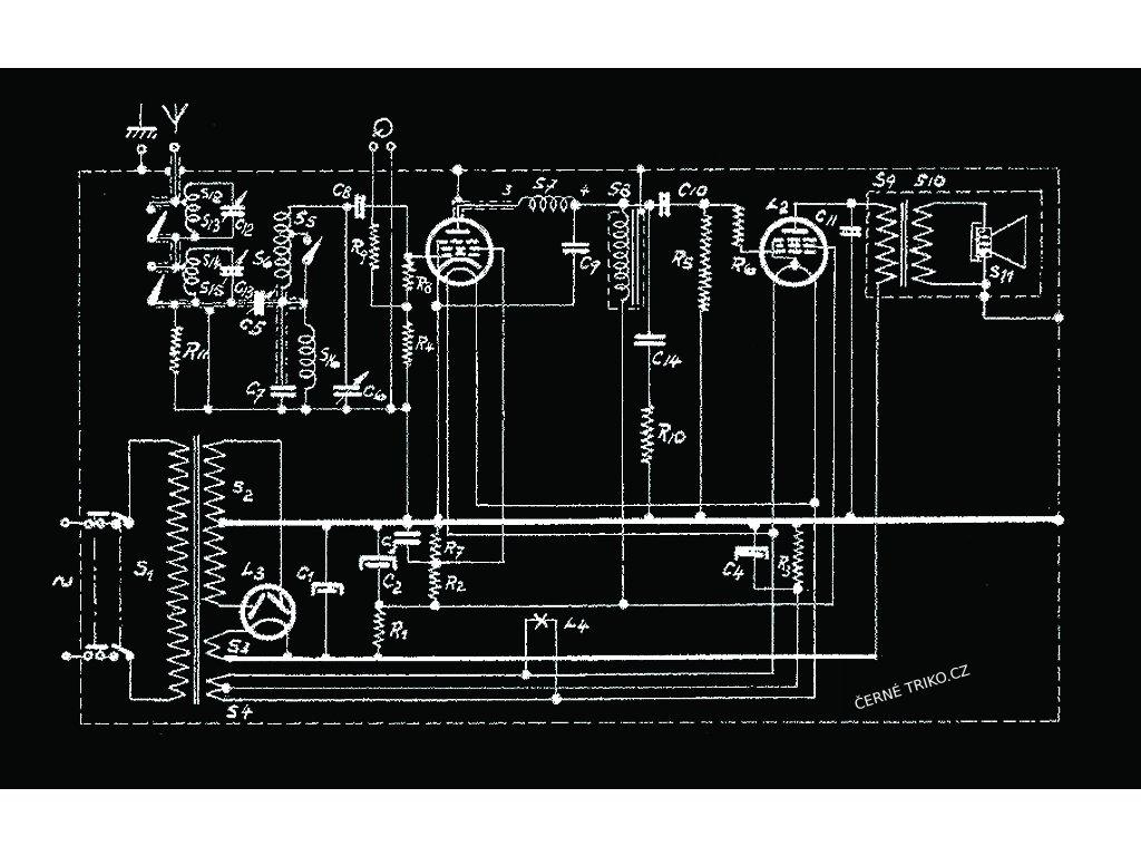 schema zapojení radia tričko s potiskem