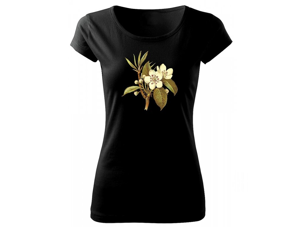 černé triko třešeň