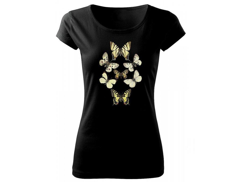 dámské tričko motýli