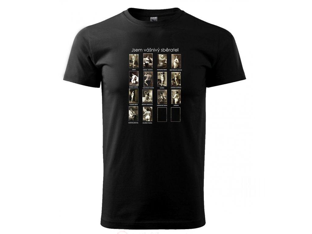 Vášnivý sběratel - tričko s erotickým vintage potiskem - Černé triko 77e7d6665d