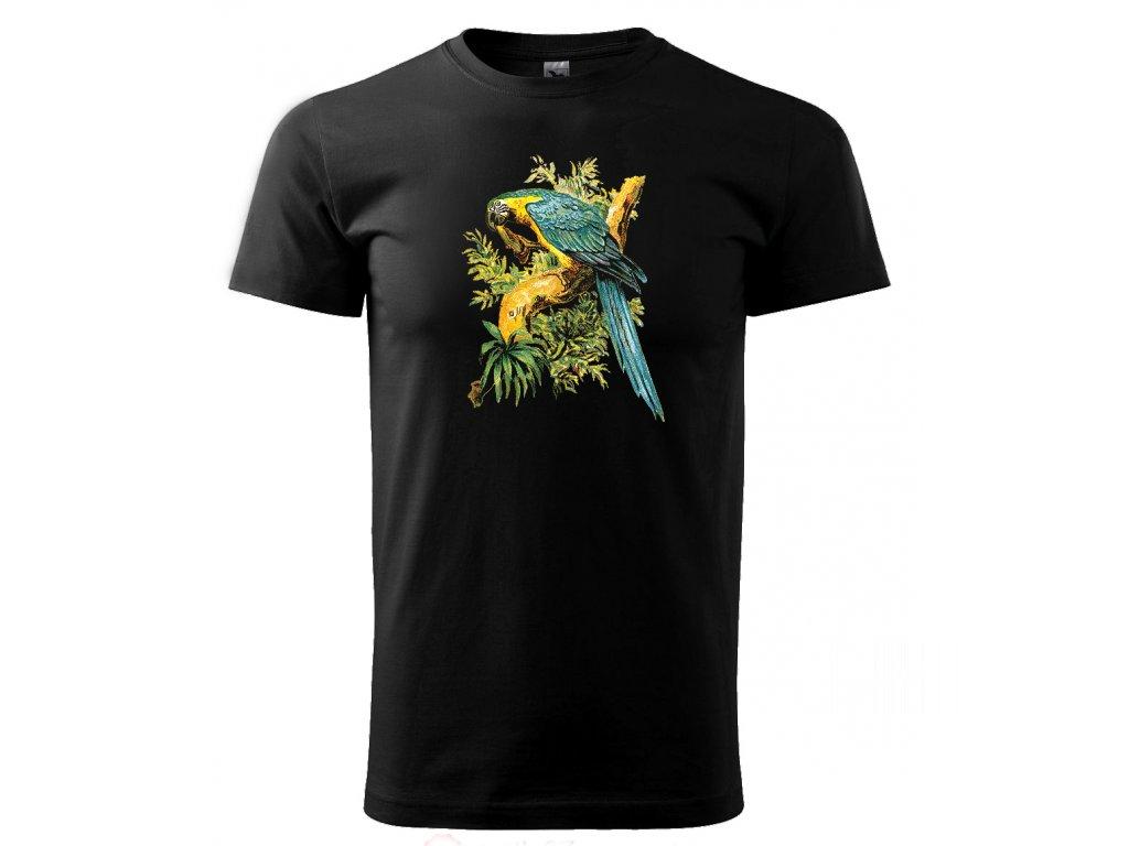 papoušek pánské tričko