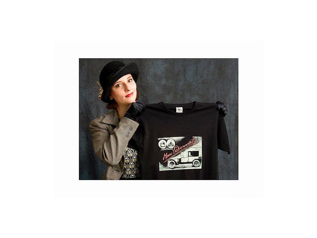 Automobil Henri Labourdette - tričko s potiskem (Pánské Dámské Dámské  černé 48b0bf3485