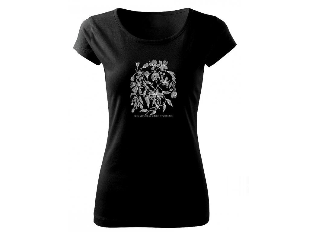 dámské retro tričko rostliny