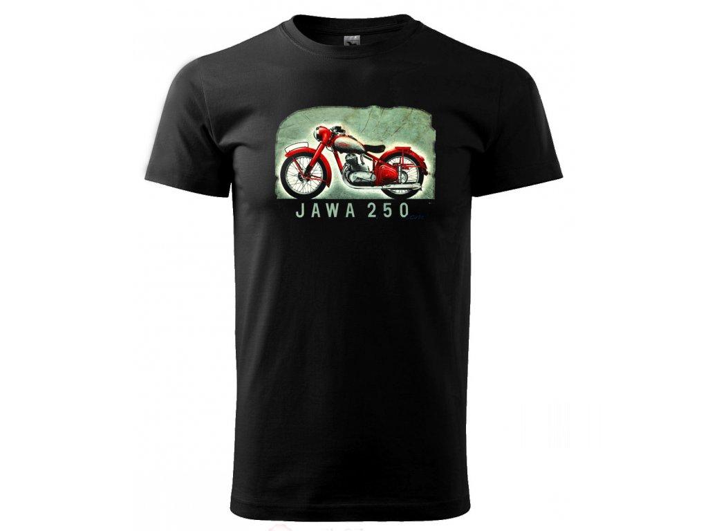 černé triko motorka jawa 250