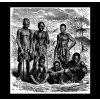 Domorodci na lovu v Africe - tričko s potiskem (Pánské/Dámské Dámské černé, Velikost XXL)