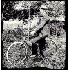 Cyklista Emil a jeho nové kolo - tričko s potiskem (Pánské/Dámské Dámské černé, Velikost XXL)