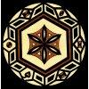 Kruhová secese - tričko s potiskem (Pánské/Dámské Pánské černé, Velikost XXL)