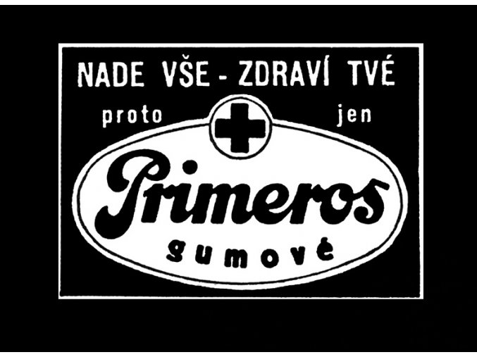 Primeros gumové - tričko s potiskem (Pánské/Dámské Dámské černé, Velikost XXL)