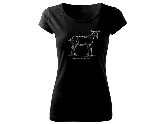 koza sánská dámské tričko s obrázkem koza
