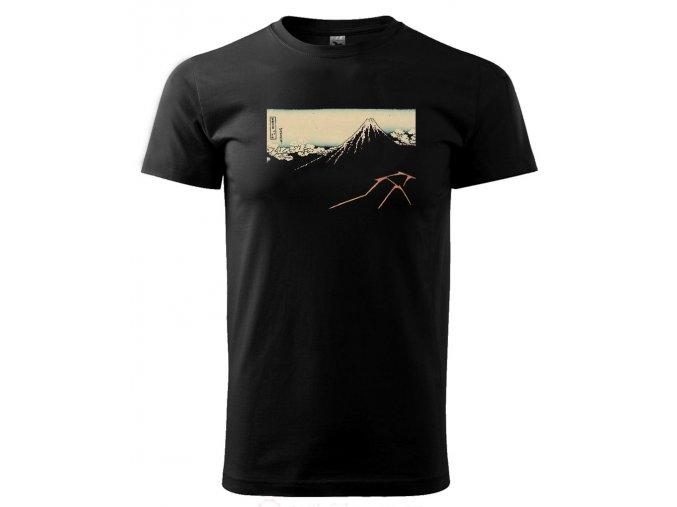 pánské tričko japonsko černé triko