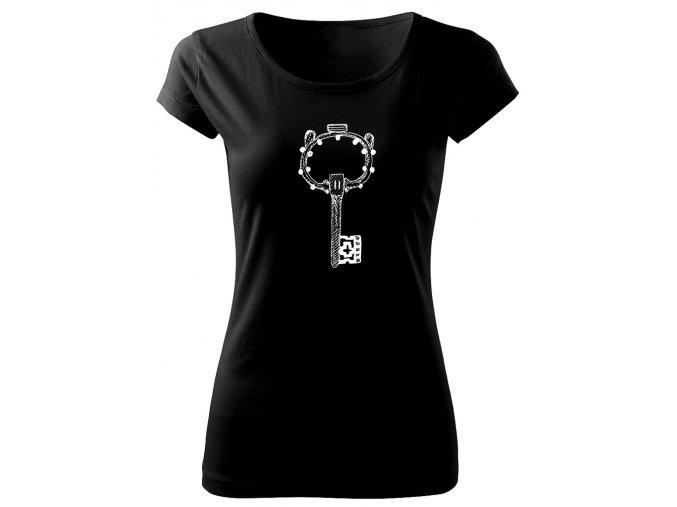 dámské tričko s obrázkem starý klíč
