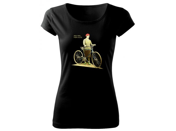 výlet na kole dámské tričko
