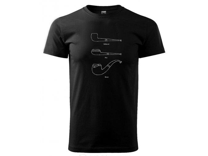 dýmky pánslé triko černé