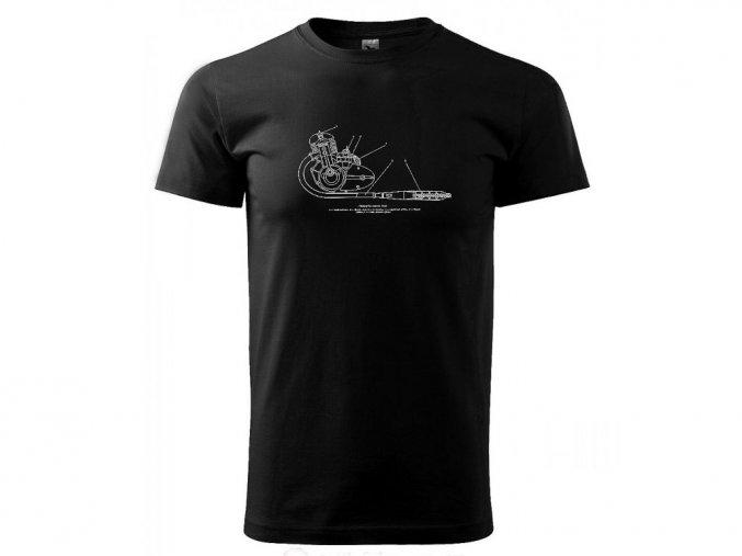 pánské tričko motor jawa