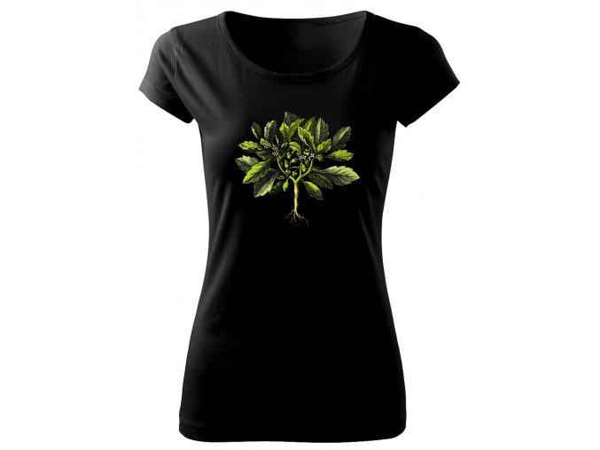 dámské tričko s rostlinou