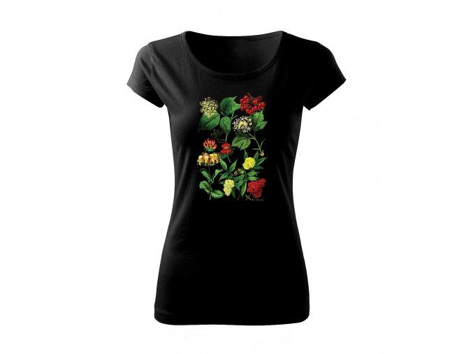 kvetoucí keře dámské tričko