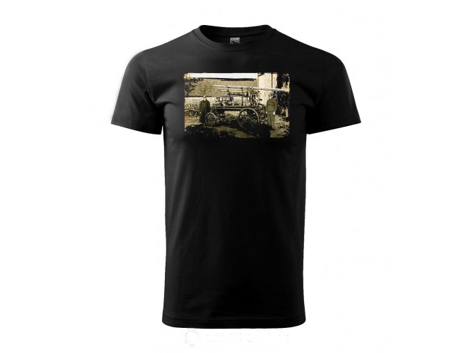 retro tričko hasič