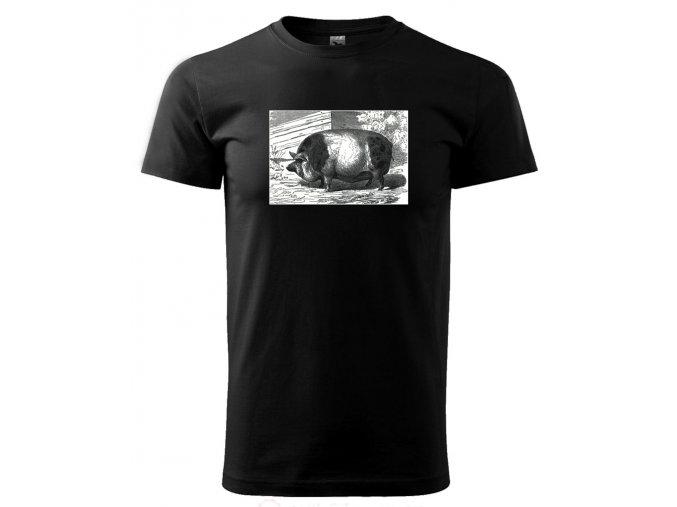 tričko s potiskem prase