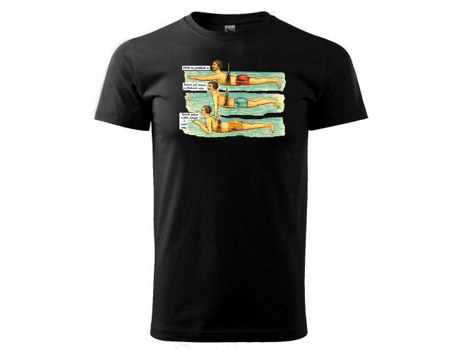 plavání pánské tričko