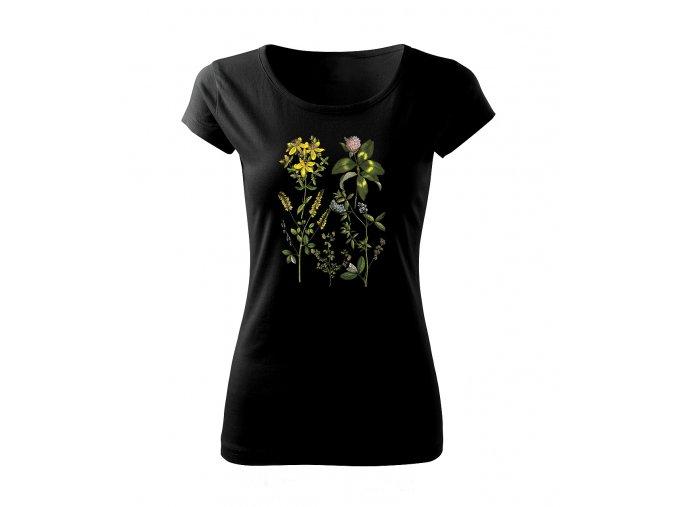 luční květy dámské tričko