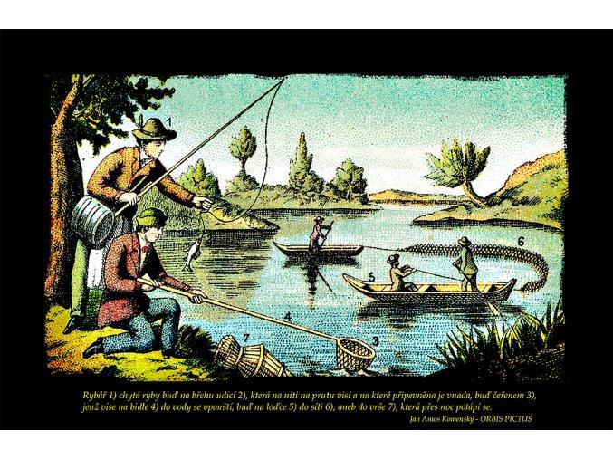 Rybářství - Orbis Pictus (Pánské/Dámské Pánské černé, Velikost XXL)