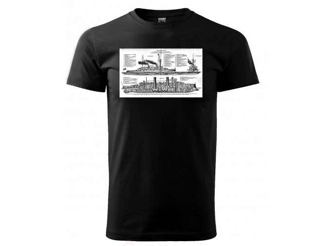 bitevní loď pánské tričko