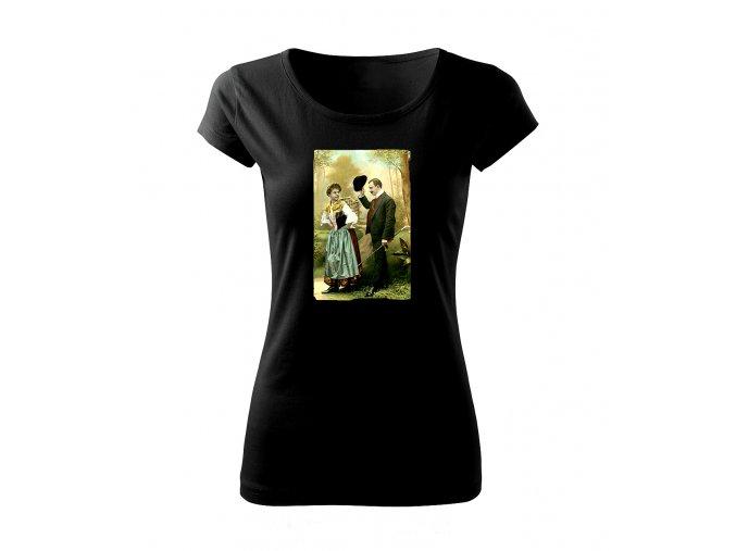 zdvořilost dámské tričko