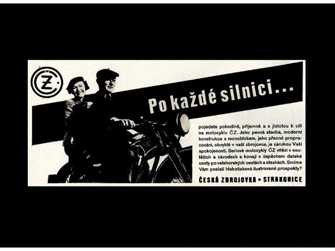 ČZ motocykl - Po každé silnici ... - tričko s potiskem (Pánské/Dámské Dámské černé, Velikost XXL)