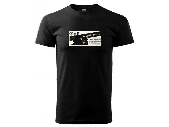 pánské tričko s potiskem motorka čz
