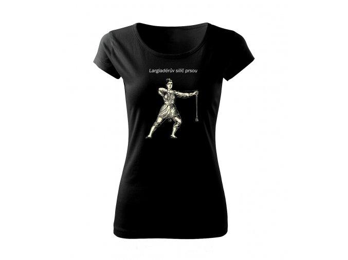 silič svalů dámské tričko