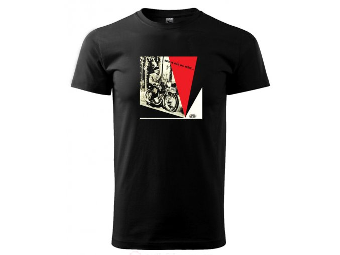 pánské tričko s potiskem motorka jawa