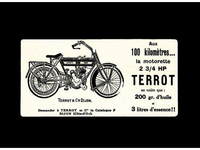 Motocykl TERROT - tričko s potiskem (Pánské/Dámské Dámské černé, Velikost XXL)