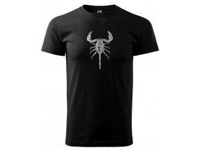 škorpion černé triko s potiskem pánské