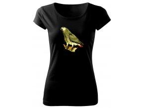 dámské tričko s obrázkem papouška jako žako