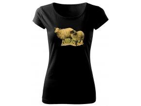 dámské tričko s obrázkem oveček