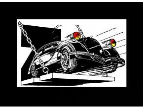 Automobil ZETKA - tričko s potiskem (Pánské/Dámské Dámské černé, Velikost XXL)