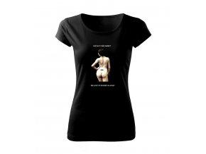 vintage černé tričko dámské